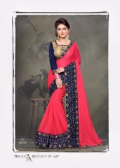 PLATINUM RIGHT ONE FASHION CHIFON SAREES CATALOG BEST RATE BY GOSIYA EXPORTS SURAT (11)