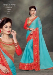PLATINUM RIGHT ONE FASHION CHIFON SAREES CATALOG BEST RATE BY GOSIYA EXPORTS SURAT (12)