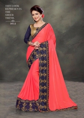 PLATINUM RIGHT ONE FASHION CHIFON SAREES CATALOG BEST RATE BY GOSIYA EXPORTS SURAT (2)