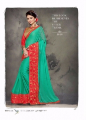 PLATINUM RIGHT ONE FASHION CHIFON SAREES CATALOG BEST RATE BY GOSIYA EXPORTS SURAT (4)