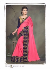 PLATINUM RIGHT ONE FASHION CHIFON SAREES CATALOG BEST RATE BY GOSIYA EXPORTS SURAT (5)