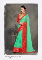 PLATINUM RIGHT ONE FASHION CHIFON SAREES CATALOG BEST RATE BY GOSIYA EXPORTS SURAT (7)