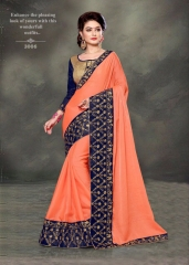 PLATINUM RIGHT ONE FASHION CHIFON SAREES CATALOG BEST RATE BY GOSIYA EXPORTS SURAT (8)