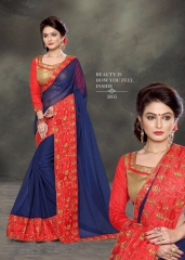 PLATINUM RIGHT ONE FASHION CHIFON SAREES CATALOG BEST RATE BY GOSIYA EXPORTS SURAT (9)