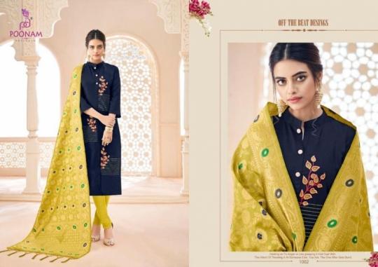 poonam-designer-minakari-cotton-slub-with-work-kurtis-with-dupatta-collection-wholesale-surat-4