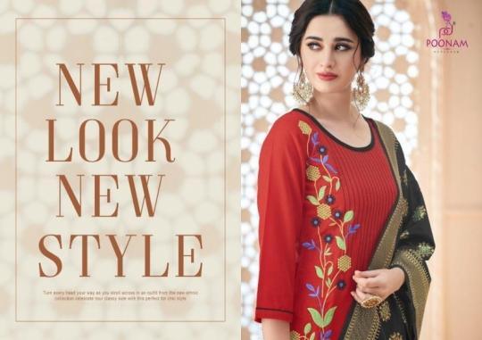 poonam-designer-minakari-cotton-slub-with-work-kurtis-with-dupatta-collection-wholesale-surat-5