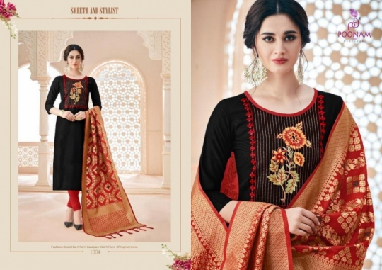 poonam-designer-minakari-cotton-slub-with-work-kurtis-with-dupatta-collection-wholesale-surat-6