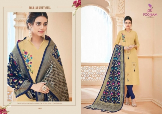 poonam-designer-minakari-cotton-slub-with-work-kurtis-with-dupatta-collection-wholesale-surat-8