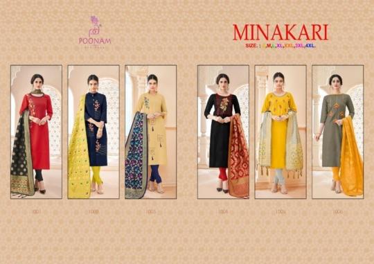 poonam-designer-minakari-cotton-slub-with-work-kurtis-with-dupatta-collection-wholesale-surat