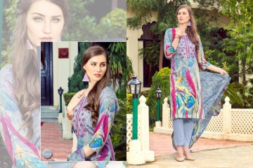 PRE WINTER BY LA VEDO MORA DESIGNER WITH PRINTED GLACE COTTON SUITS ARE AVAILABLE AT WHOLESALE BESTRATE BY GO