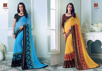 PRIYAPARIDHI FAIRY CATALOG GEORGETTE PRINTS SAREES COLLECTION WHOLESALE BEST RATE BU GOSIYA EXPORTS SURAT (1)