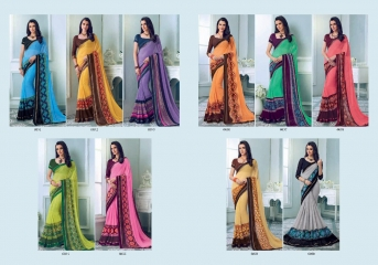 PRIYAPARIDHI FAIRY CATALOG GEORGETTE PRINTS SAREES COLLECTION WHOLESALE BEST RATE BU GOSIYA EXPORTS SURAT (10)