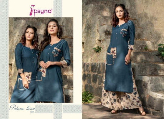 PSYNA PALAZZO HOUSE VOL 4 RAYON FABRIC KURTIS WITH PALAZZO BEST WHOLESALE DEALER BEST RATE BY GOSIYA EXPORTS SURAT (14)