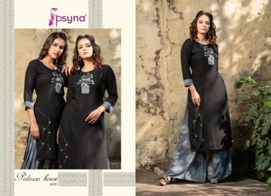 PSYNA PALAZZO HOUSE VOL 4 RAYON FABRIC KURTIS WITH PALAZZO BEST WHOLESALE DEALER BEST RATE BY GOSIYA EXPORTS SURAT (16)