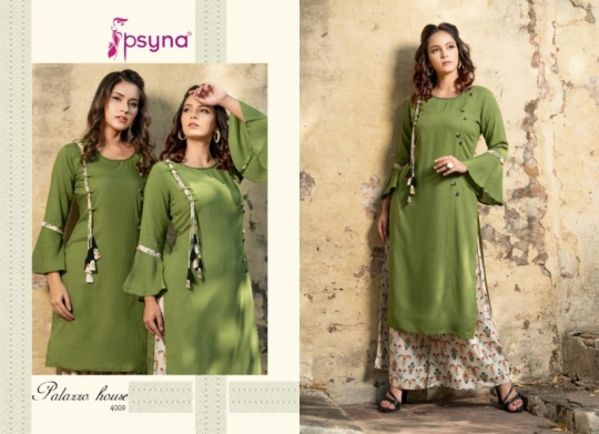 PSYNA PALAZZO HOUSE VOL 4 RAYON FABRIC KURTIS WITH PALAZZO BEST WHOLESALE DEALER BEST RATE BY GOSIYA EXPORTS SURAT (17)