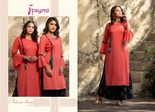 PSYNA PALAZZO HOUSE VOL 4 RAYON FABRIC KURTIS WITH PALAZZO BEST WHOLESALE DEALER BEST RATE BY GOSIYA EXPORTS SURAT (18)