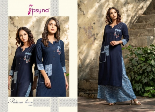 PSYNA PALAZZO HOUSE VOL 4 RAYON FABRIC KURTIS WITH PALAZZO BEST WHOLESALE DEALER BEST RATE BY GOSIYA EXPORTS SURAT (21)