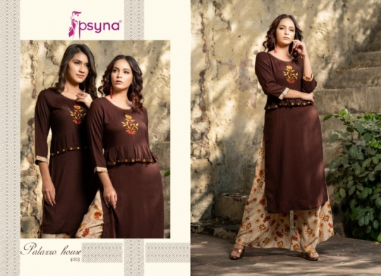 PSYNA PALAZZO HOUSE VOL 4 RAYON FABRIC KURTIS WITH PALAZZO BEST WHOLESALE DEALER BEST RATE BY GOSIYA EXPORTS SURAT (22)