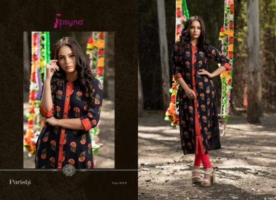 PSYNA PARISHI VOL 2 RAYON KURTI HANDMADE ACCESSORIES WHOLESALE DEALER BEST RATE BY GOSIYA EXPORTS SURAT (10)