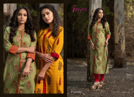 PSYNA PARISHI VOL 2 RAYON KURTI HANDMADE ACCESSORIES WHOLESALE DEALER BEST RATE BY GOSIYA EXPORTS SURAT (6)