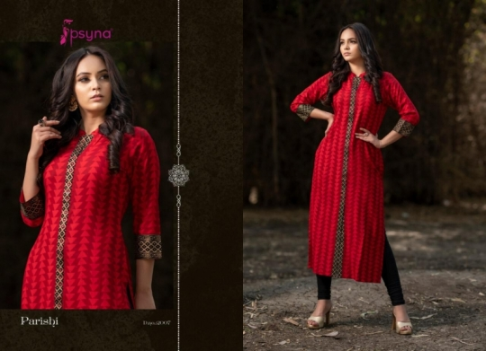 PSYNA PARISHI VOL 2 RAYON KURTI HANDMADE ACCESSORIES WHOLESALE DEALER BEST RATE BY GOSIYA EXPORTS SURAT (8)