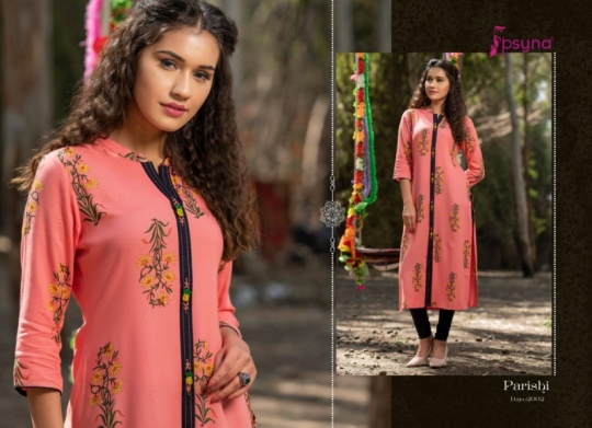 PSYNA PARISHI VOL 2 RAYON KURTI HANDMADE ACCESSORIES WHOLESALE DEALER BEST RATE BY GOSIYA EXPORTS SURAT (9)