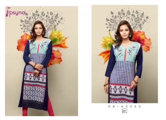 PSYNA PRINCESS VOL 8 DIGITAL PRINTED RAYON KURTIS CATALOG PSYNA CATALOG BEST RATE BY GOSIYA EXPORTS (10)