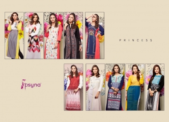 PSYNA PRINCESS VOL 8 DIGITAL PRINTED RAYON KURTIS CATALOG PSYNA CATALOG BEST RATE BY GOSIYA EXPORTS (9)