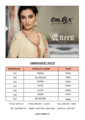 QUEEN BY OM TEX 141 TO 147 SERIES INDIAN DESIGNER BEAUTIFUL COLORFUL PARTY WE (7)
