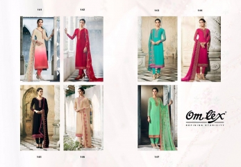 QUEEN BY OM TEX 141 TO 147 SERIES INDIAN DESIGNER BEAUTIFUL COLORFUL PARTY WEAR (1)