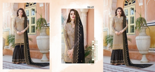 RAAZI VOL 11 PAKISTANI SAHARARA DRESS  (10)