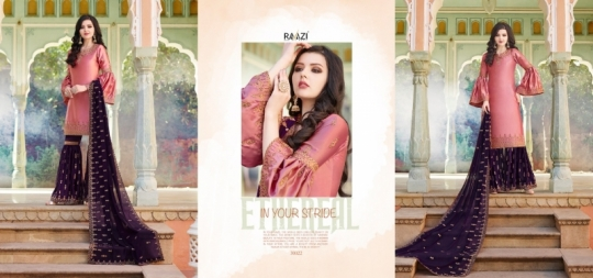 RAAZI VOL 11 PAKISTANI SAHARARA DRESS  (11)