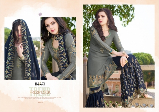 RAAZI VOL 11 PAKISTANI SAHARARA DRESS  (12)
