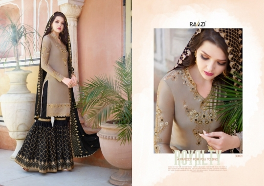 RAAZI VOL 11 PAKISTANI SAHARARA DRESS  (14)