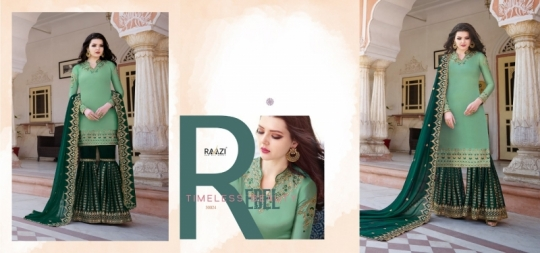 RAAZI VOL 11 PAKISTANI SAHARARA DRESS  (17)