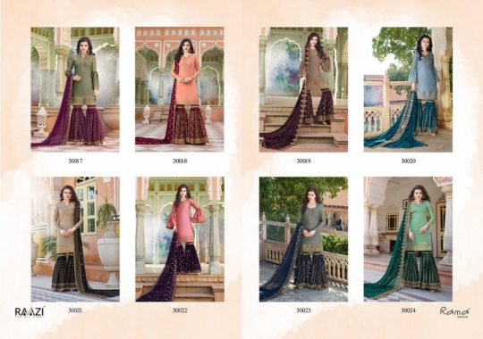 RAAZI VOL 11 PAKISTANI SAHARARA DRESS  (18)