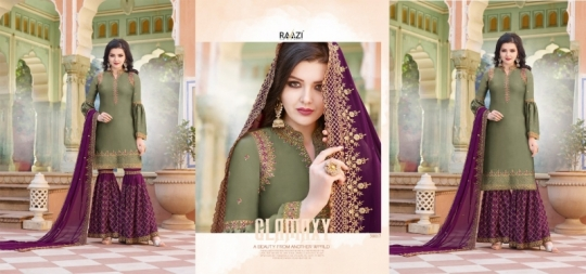 RAAZI VOL 11 PAKISTANI SAHARARA DRESS  (3)