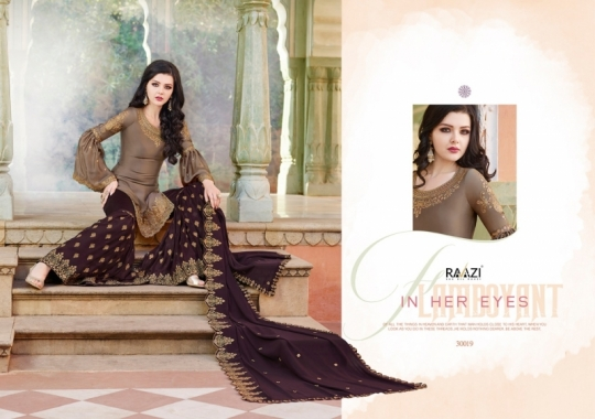 RAAZI VOL 11 PAKISTANI SAHARARA DRESS  (4)