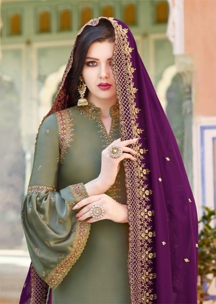 RAAZI VOL 11 PAKISTANI SAHARARA DRESS  (5)