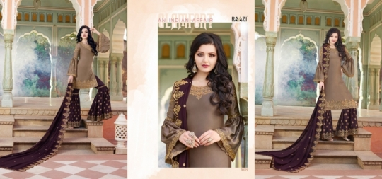 RAAZI VOL 11 PAKISTANI SAHARARA DRESS  (7)