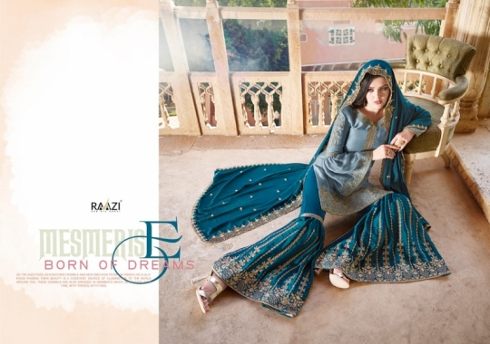 RAAZI VOL 11 PAKISTANI SAHARARA DRESS  (9)
