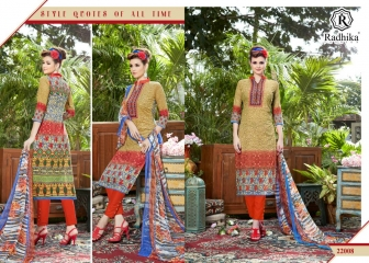 Radhika azara 22 printed cotton salwar kameez cataloG BY GOSIYA EXPORTS (1)