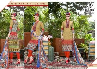Radhika azara 22 printed cotton salwar kameez cataloG BY GOSIYA EXPORTS (3)