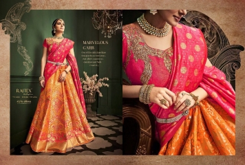 RAJ TEX KINKHAAB DESIGNER LEHENGA COLLECTION WHOLSALER BEST RATE BY GOSIYA EXPOTS SURAT (2)