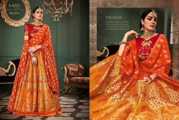 RAJ TEX KINKHAAB DESIGNER LEHENGA COLLECTION WHOLSALER BEST RATE BY GOSIYA EXPOTS SURAT (5)