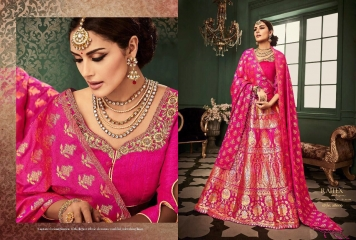 RAJ TEX KINKHAAB DESIGNER LEHENGA COLLECTION WHOLSALER BEST RATE BY GOSIYA EXPOTS SURAT (6)