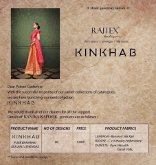 RAJ TEX KINKHAAB DESIGNER LEHENGA COLLECTION WHOLSALER BEST RATE BY GOSIYA EXPOTS SURAT (7)