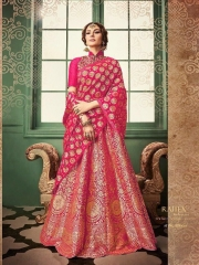 RAJ TEX KINKHAAB DESIGNER LEHENGA COLLECTION WHOLSALER BEST RATE BY GOSIYA EXPOTS SURAT