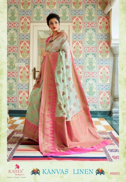 RAJTEX PRESENTS CANVAS LINEN FABRIC DESIGNER SAREE WHOLESALE DEALER BEST RATE BY GOSIYA EXPORTS SURAT (2)