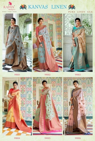 RAJTEX PRESENTS CANVAS LINEN FABRIC DESIGNER SAREE WHOLESALE DEALER BEST RATE BY GOSIYA EXPORTS SURAT (3)